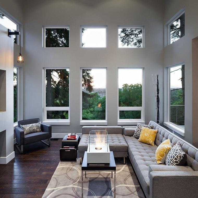 finestre architettura moderna living design