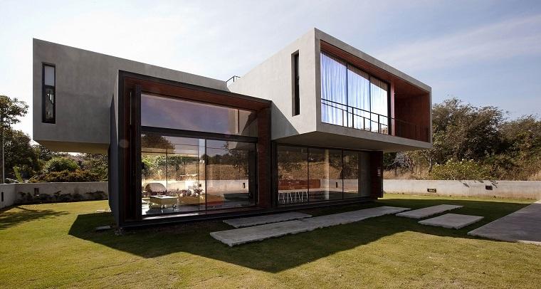 finestre architettura moderna villa futuristica