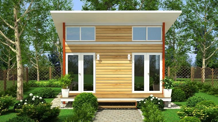 finestre architettura moderna villa piccole dimensioni