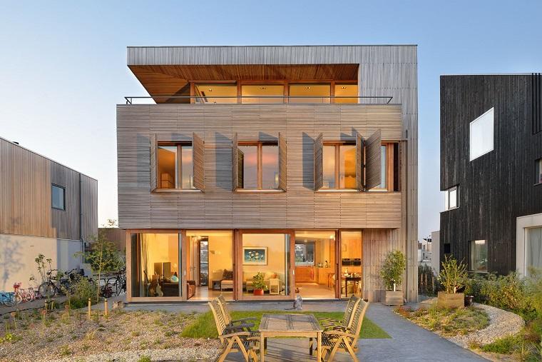 finestre moderne facciata villa design naturale