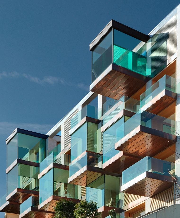 finestre moderne forma cubo architettura esterno