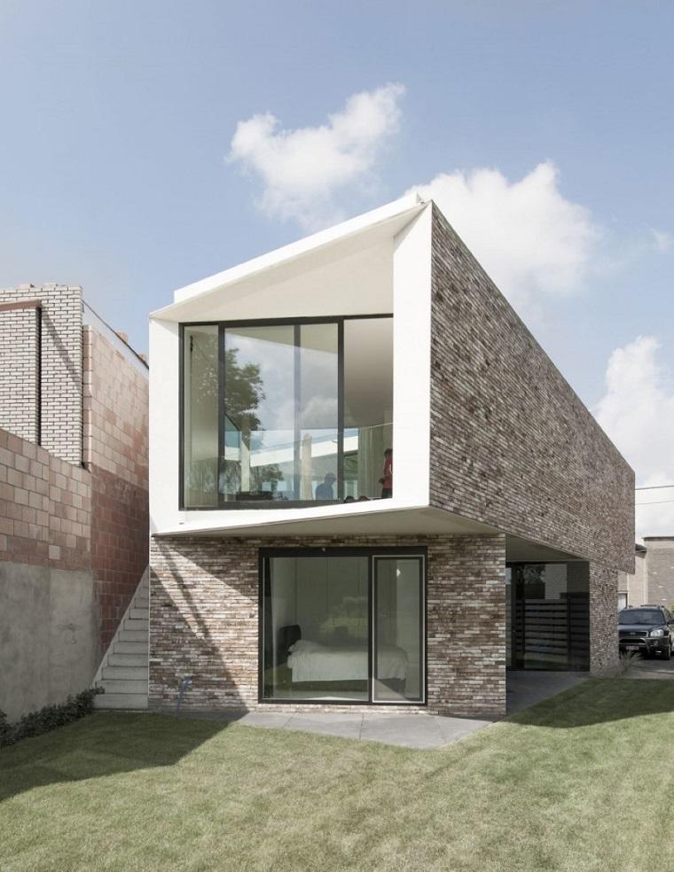 finestre moderne forma particolare villa minimal