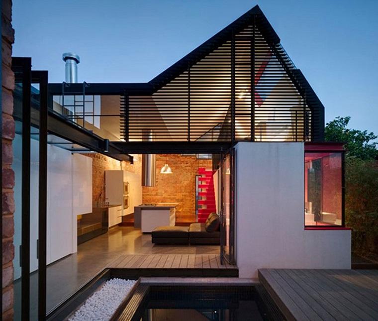 finestre moderne intera facciata villa avanguardia