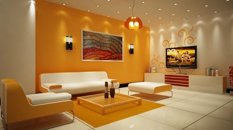 giallo acceso decorare soggiorno moderno