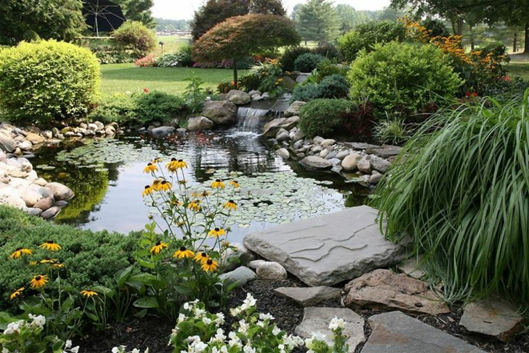 giapponese stile giardino particolare verde
