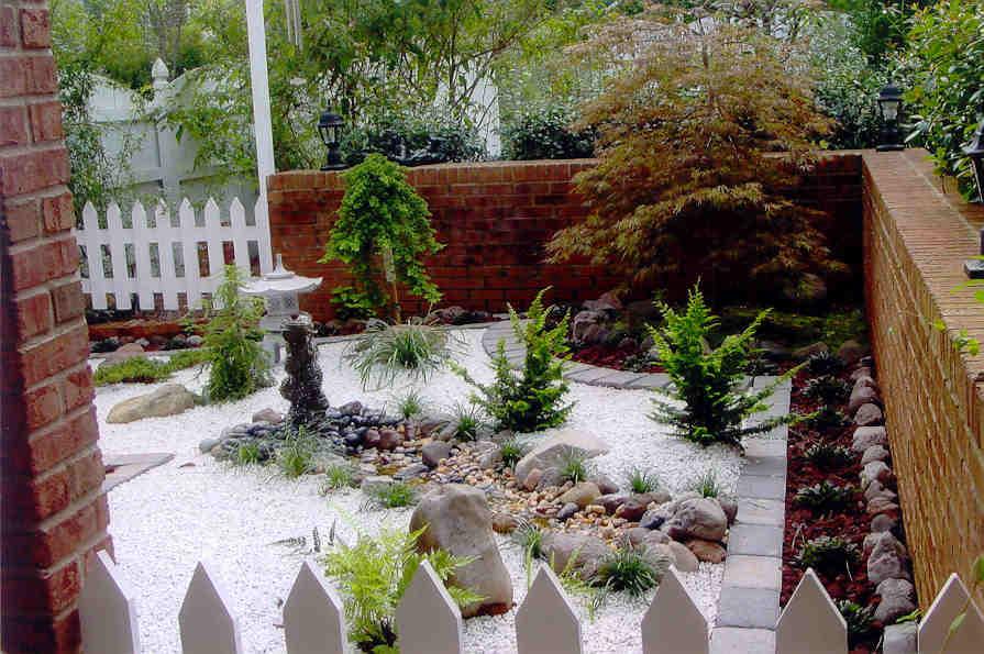 giardini zen rocce piante verdi
