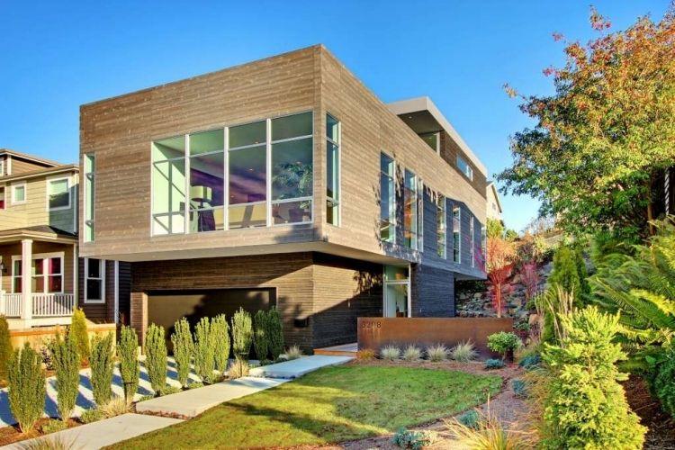 giardino moderno cortile anteriore casa stile minimal