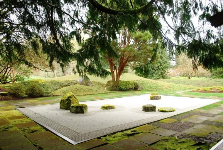 giardino spazio esterno stile zen