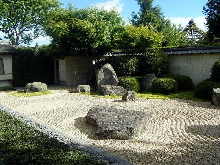 giardino stile giapponese piante sempreverdi