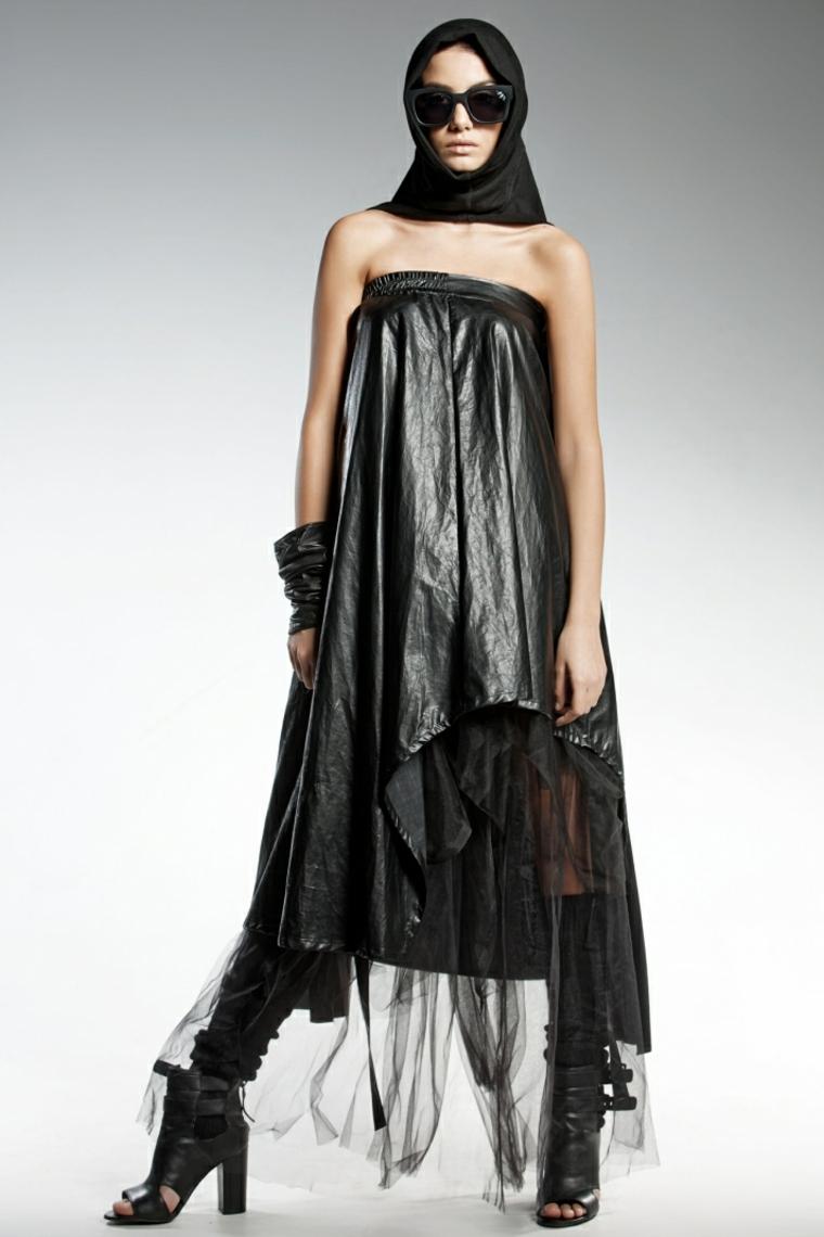 giochi di moda idea stravagante vestito nero