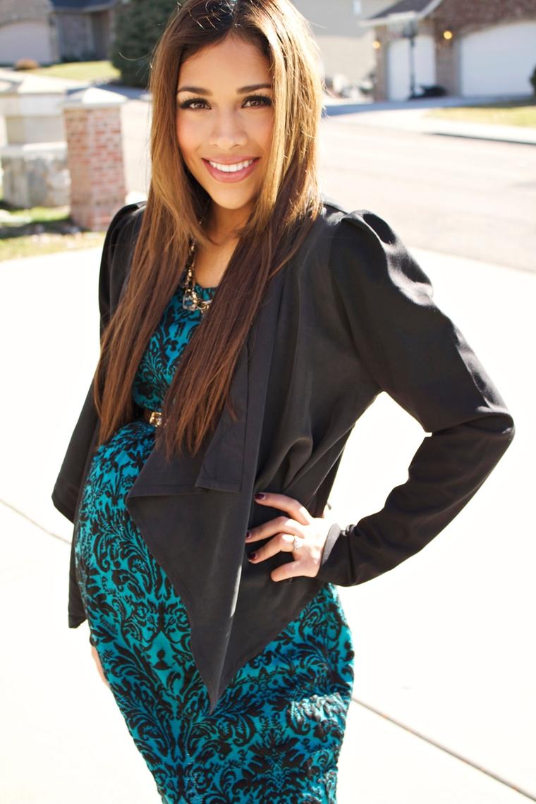 gravidanza avvanzata donna incinta stile