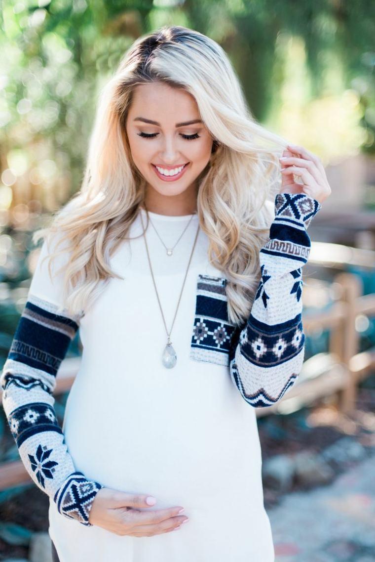 gravidanza donne incite vestite abiti bianchi