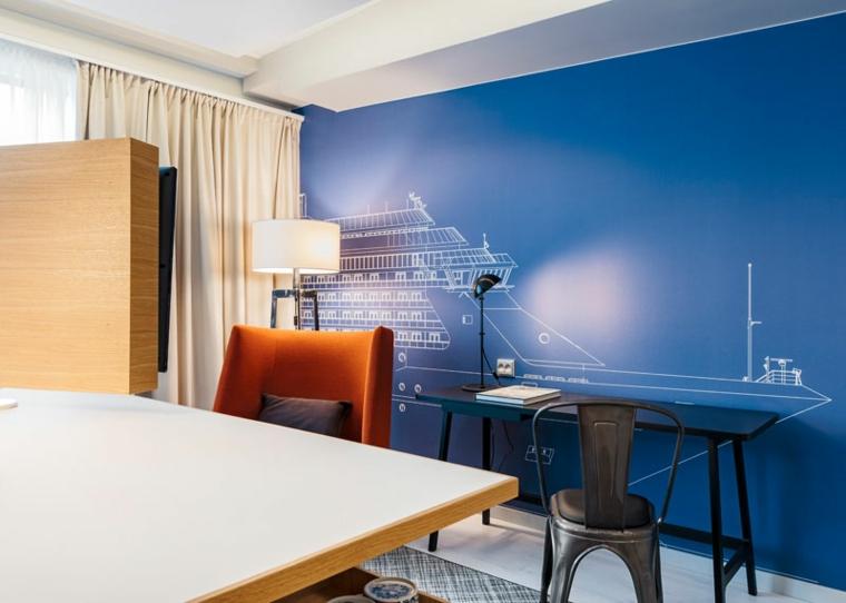 hotel design originale stanza moderna colori vivaci