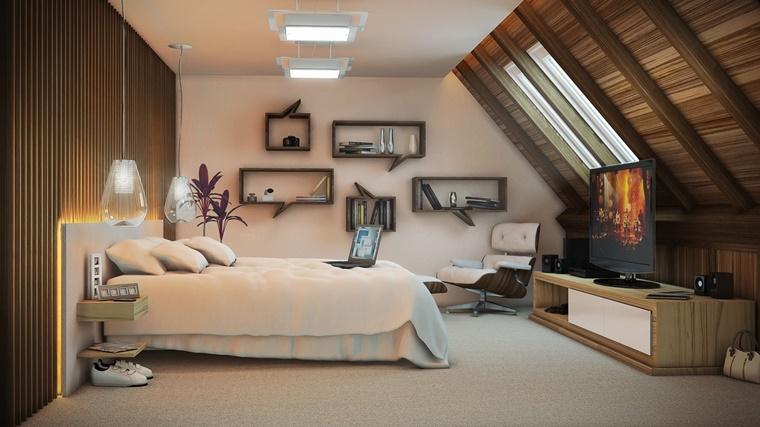 idea arredamento camera letto mansarda