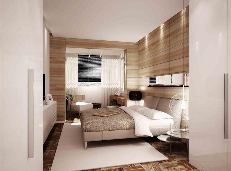 idea camera letto pannello legno