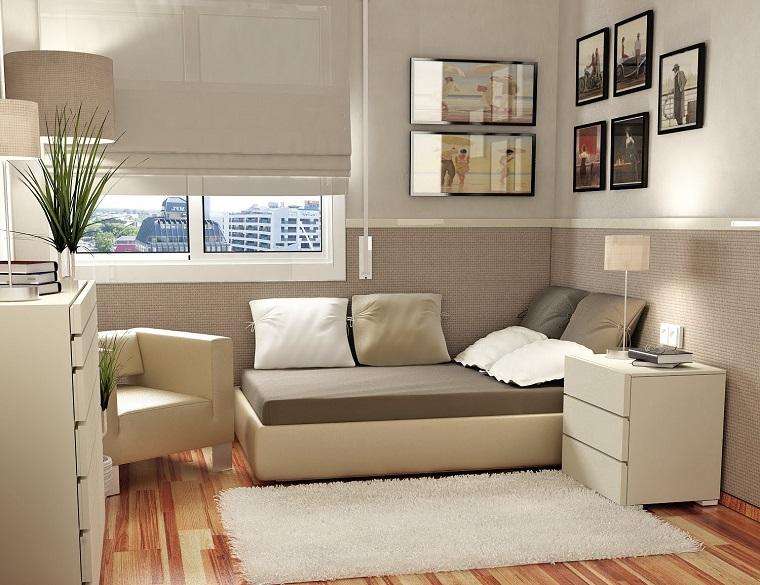 Camera da letto piccola soluzioni per ottimizzare lo - Parete camera da letto tortora ...