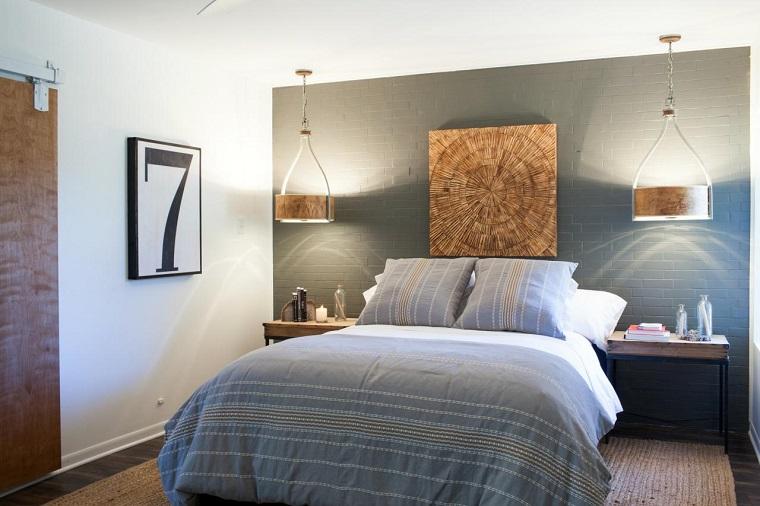 idea crativa camera letto effetto piastrella