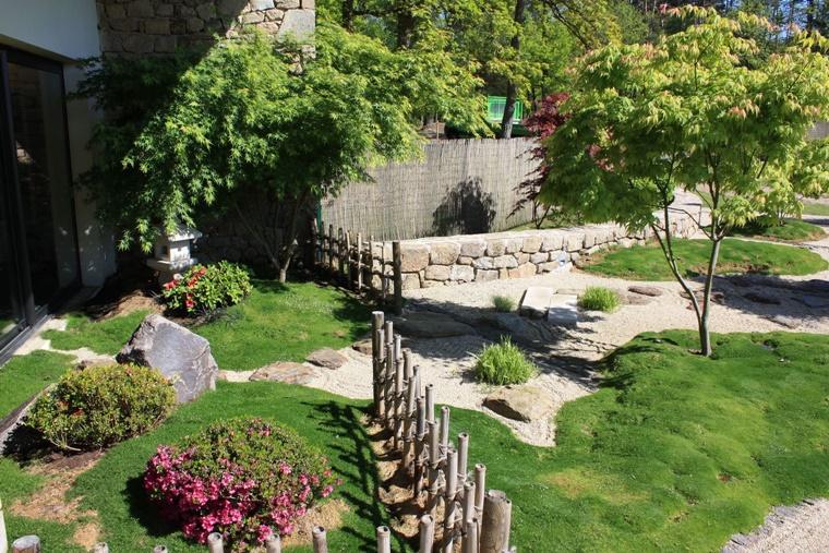 idea creativa giardino tipo giapponese
