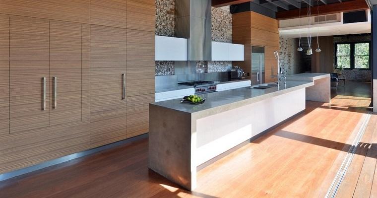 idea design cucina piano lavoro calcestruzzo