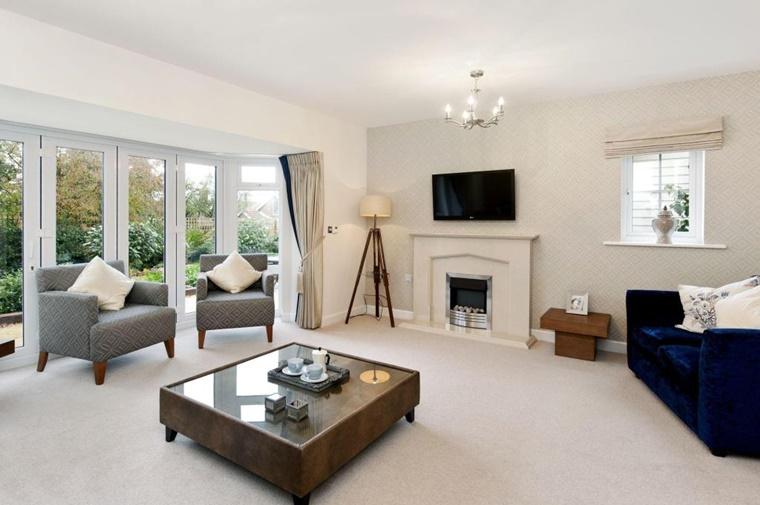 Arredamento soggiorno in stile moderno mobili e for Soggiorno moderno elegante