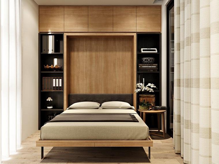 idea mobili legno tante mensole