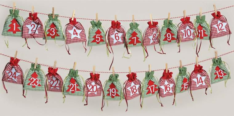 idea originale particolare calendario natalizio semplice