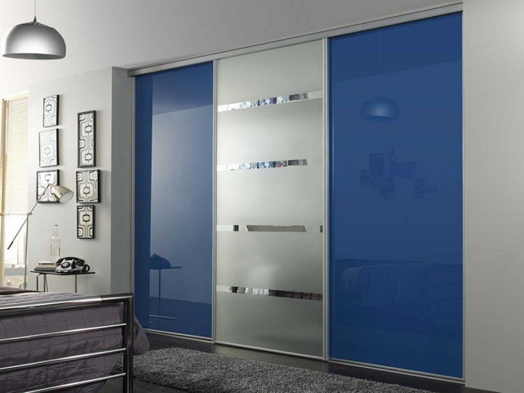 idea tocco blu stile moderno camera letto