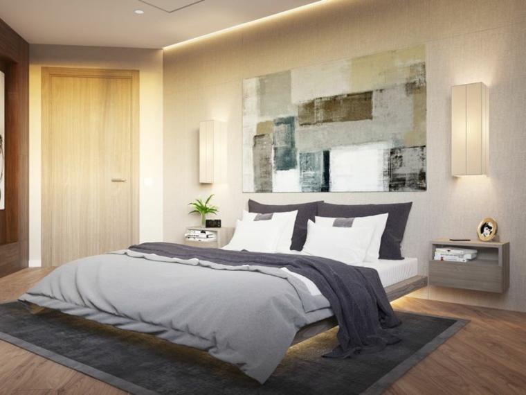 idee arredamento camera da letto illuminazione como quadro sopra lampade