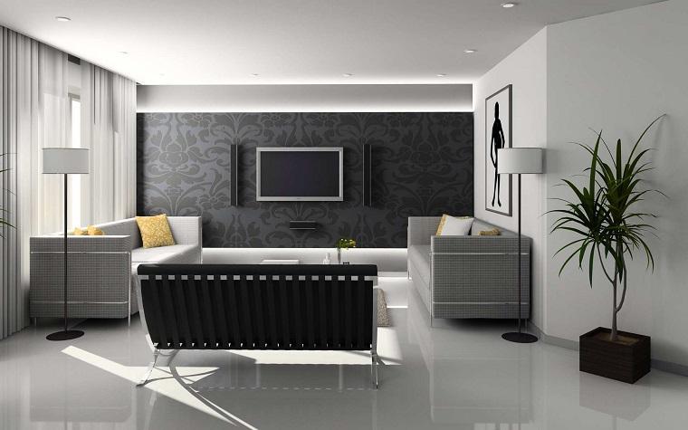 Idee arredo casa in bianco, nero e grigio per uno stile sobrio ed ...