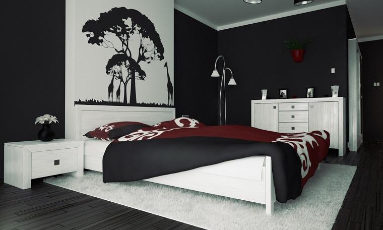 Camera bianca e nera smart camera bianca e gialla camere complete with camera bianca e nera ed - Camera da letto rossa e bianca ...