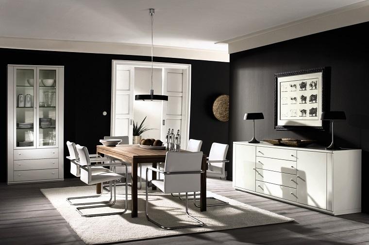 Idee arredo casa in bianco nero e grigio per uno stile for Arredamento casa bianco