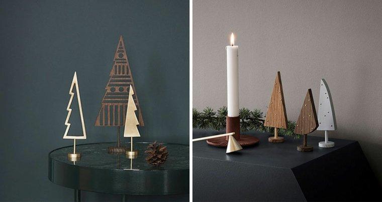 idee natale stile minimal legno