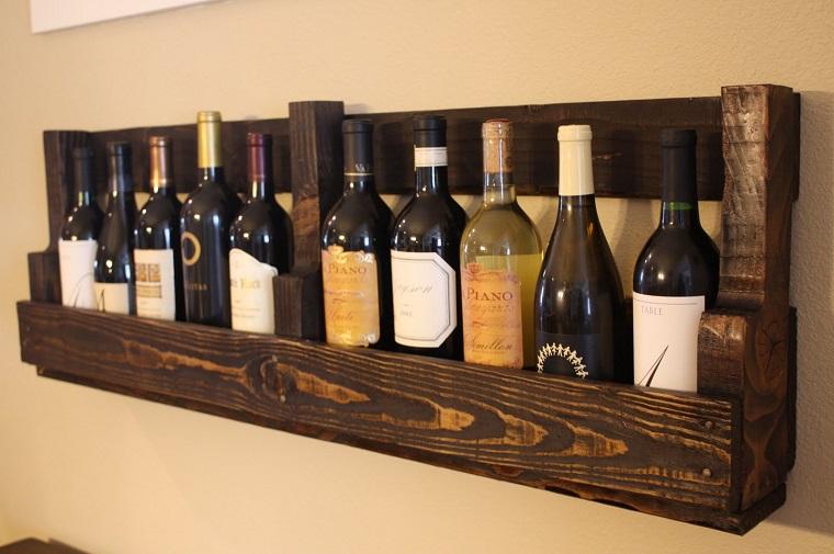 idee pallet stoccare bottiglie vino