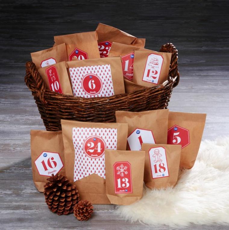idee per natale calendario natalizio fai da te