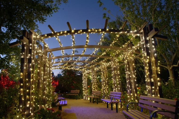 illuminazione giardino proposta sorprendente