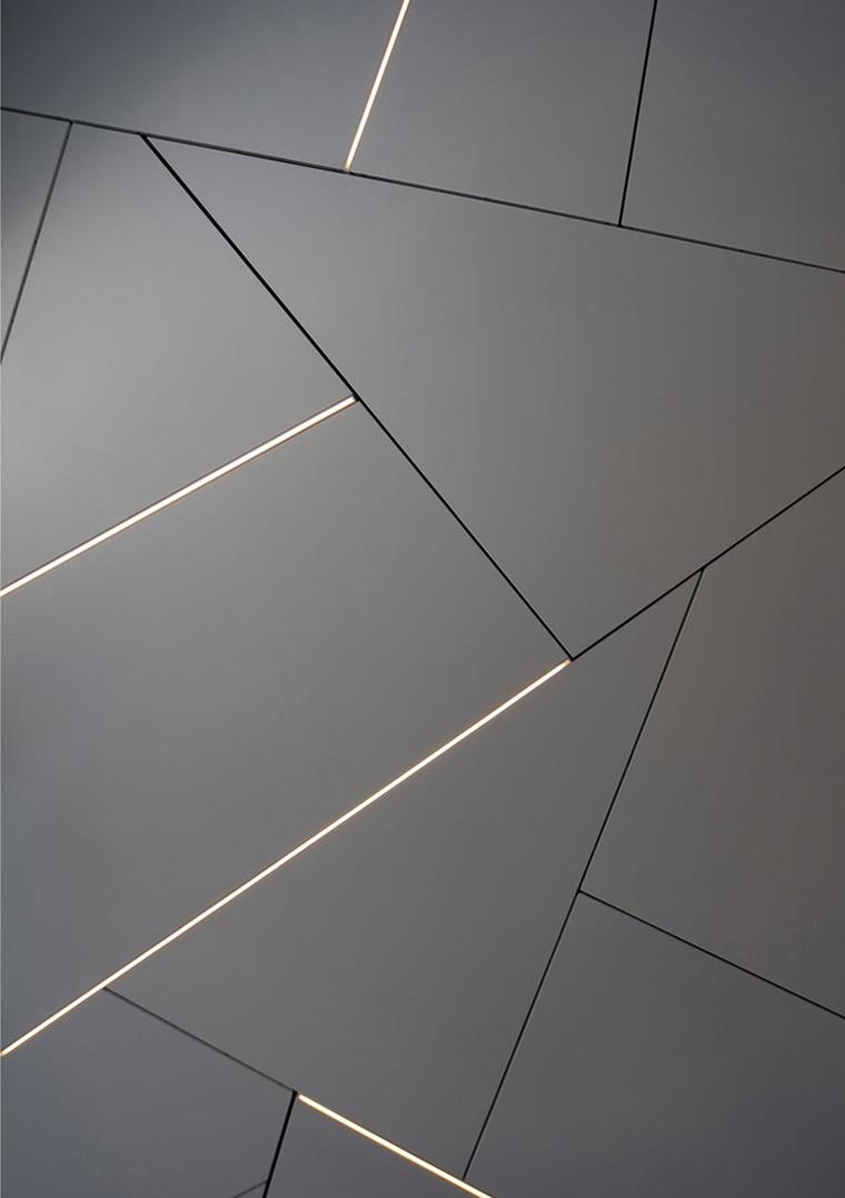 illuminazione moderna forme geometriche soffitto