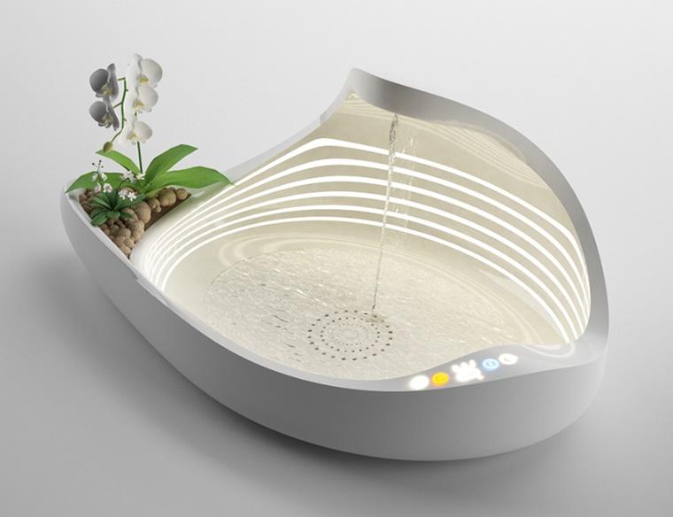 illuminazione moderna lavandino design stravagante