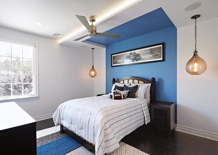 illuminazione moderna led camera letto