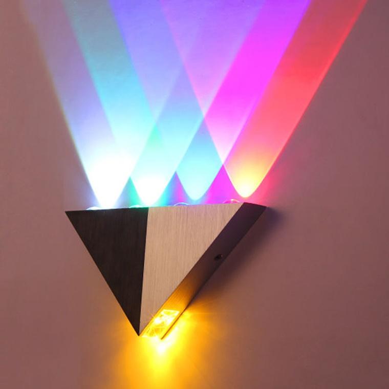 illuminazione moderna luci colorate lamapada parete