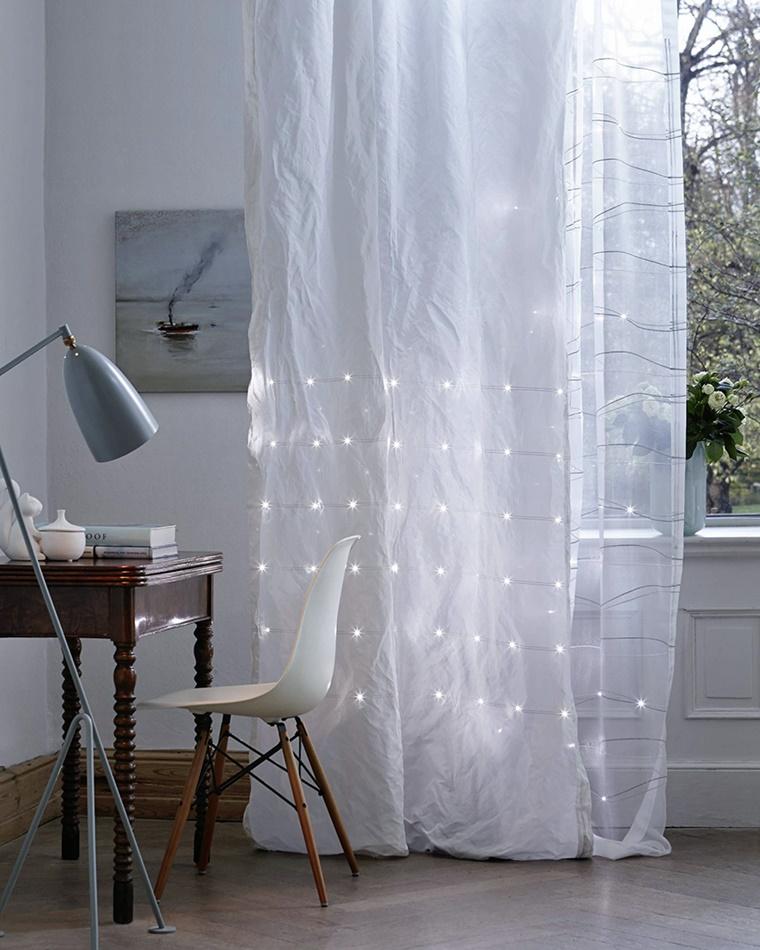illuminazione moderna tenda luci incorporate