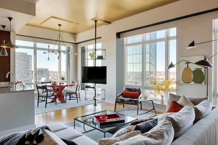 infissi moderni ampi zona soggiorno