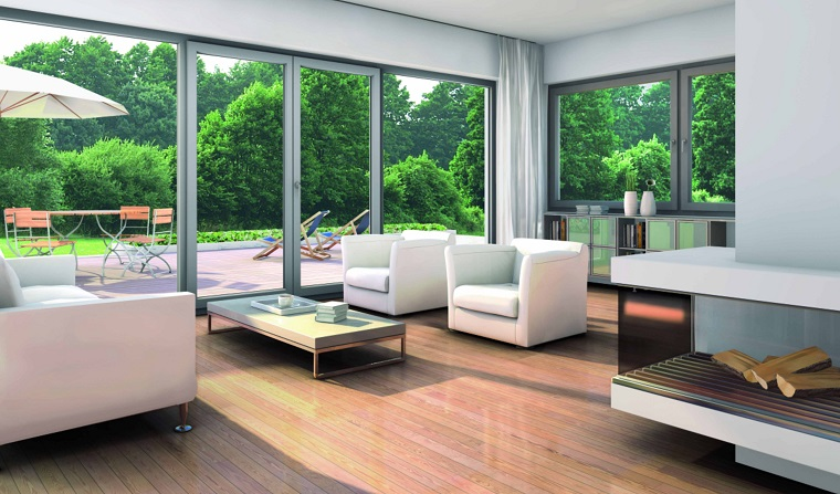 infissi moderni soluzione soggiorno