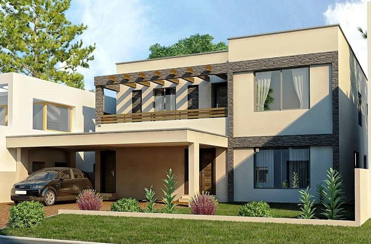 infissi moderni villa minimal giardino