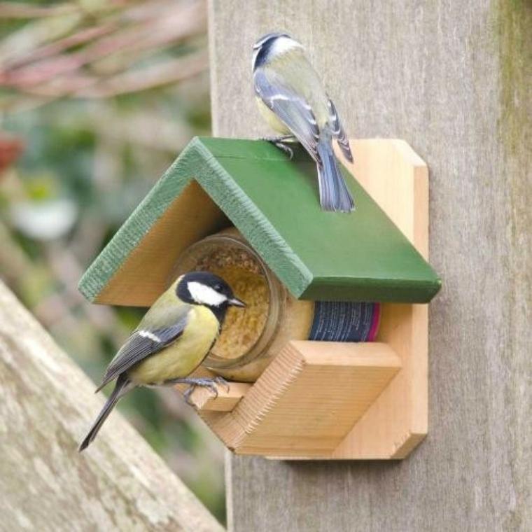 la mangiatoia colorata legno uccelli