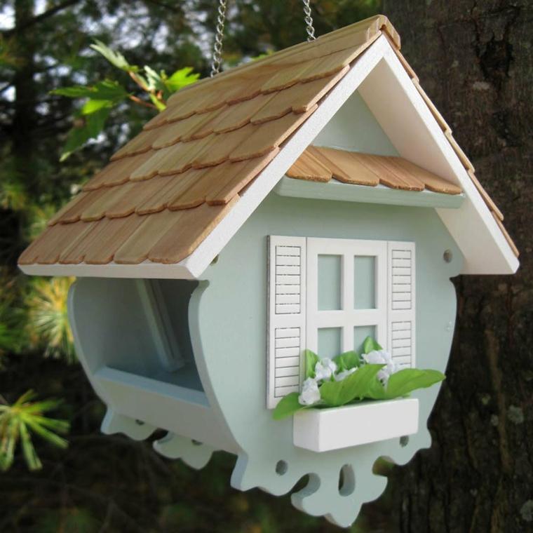 la mangiatoia uccelli casa speciale colorata