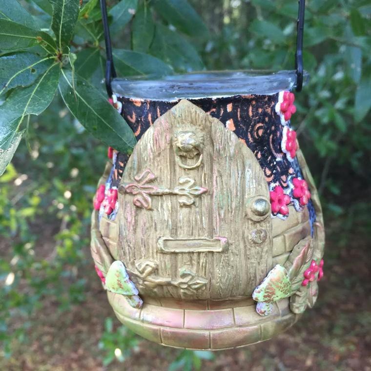 lanterna ceramica aspetto lucido colorato