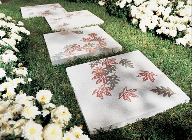 lastre cemento decorate giardino moderno