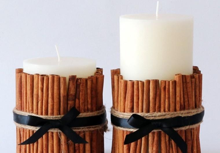 lavoretti di natale fai da te candele cannella
