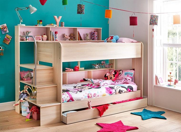 Letti a castello un mondo di idee graziose per le camerette bambini - Letti bambini design ...