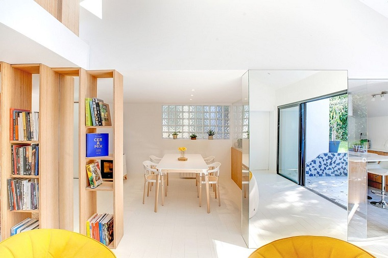 libreria design appartamento arredato stile francese